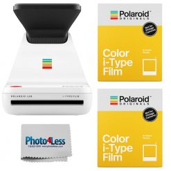 Polaroid Lab Instant Photo Printer + Polaroid Color i-Type Instant Film (8 Exposures) x2 + Cleaning Cloth