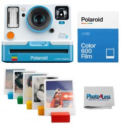 Polaroid OneStep 2 VF Summer Blue Camera | Color Film Double Pack | Photo Stands