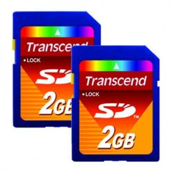 Transcend 2GB SD Flash Memory Card TS2GSDC (2-Pack)