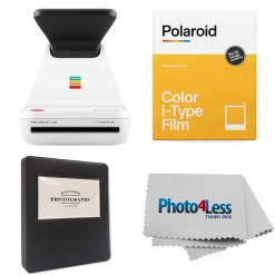"Polariod Lab Instant Photo Printer+Polaroid Color Film for I-Type+Phobea Leather 5"" Photo Album Holds 32 Prints+Cleaning Cloth"
