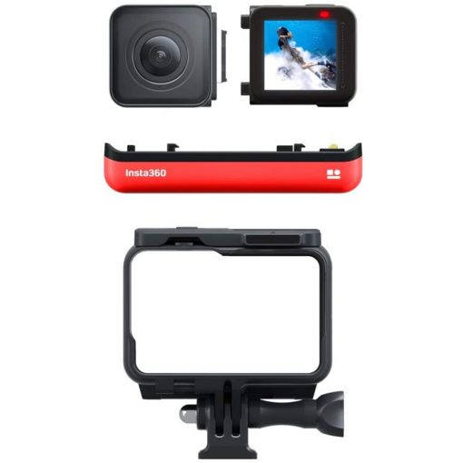 Insta360 ONE R 4K Edition   64GB SD Card   Monopod   Spike Mount - Top Kit!