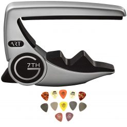 G7th 81010 Performance 3 Steel String, Silver + Dunlop PVP101 Pick Variety Pack, 12/Player's Pack