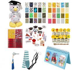 Exclusive Graduation Kit-Variety Of Grad Accessories For Fujifilm Instax-Blue