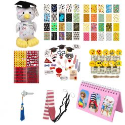 Exclusive Graduation Kit-Variety Of Grad Accessories For Fujifilm Instax-Pink