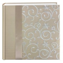 Pioneer Photo Album, Embroidered Scroll Frame Ivory, 200 4x6 Photos