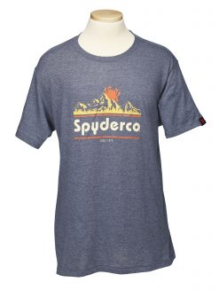 Spyderco T-Shirt Unisex Mountain Design, Made with Polyester and Cotton, Small – TSMTNS
