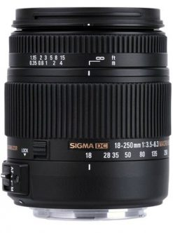 Sigma 18-250mm f3.5-6.3 DC MACRO OS HSM for Canon Digital SLR Cameras(883101)