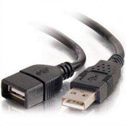 C2G / Cables To Go 52107 USB 2.0 A Male to A Female Extension Cable (2 Meter, Black)