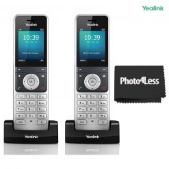 2 Yealink YEA-W56H HD DECT Expansion Handset for Cordless VoIP phones and Devices