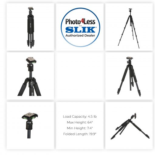 PTZOptics 20X-USB Video Conferencing Camera, Camera + Slik Sprint 150 Aluminum Tripod with SBH-150DQ Ball Head