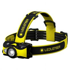 LEDLENSER iH9R High Power Multicolor LED Rechargeable (or AA Alkaline Batteries) Headlamp, 600 Lumens