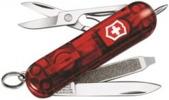 Victorinox Swiss Army Signature Lite Pocket Knife Multi-Tool, Ruby
