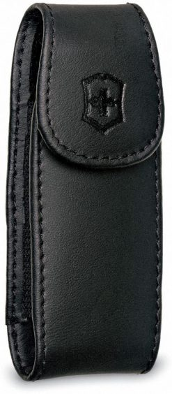 Victorinox Medium Pocket Knife Clip Pouch, Leather Black
