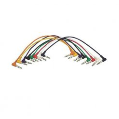 On-Stage PC18-17TRS-R Right-Angle Patch Cables, TRS-TRS, 8 Pack
